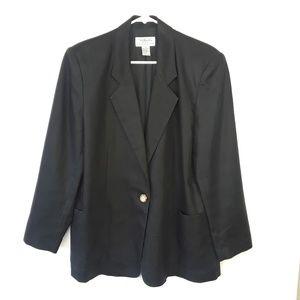 VTG Talbots Petites Linen Blazer 12P